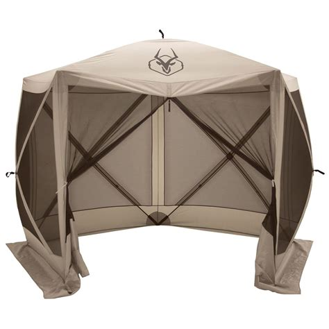 portable gazebo gazelle 5 sided portable gazebo 666524 screens