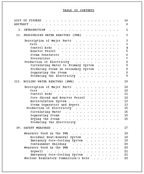 Table Of Contents Template For A Book Report by Technical Writing Report Format And Production