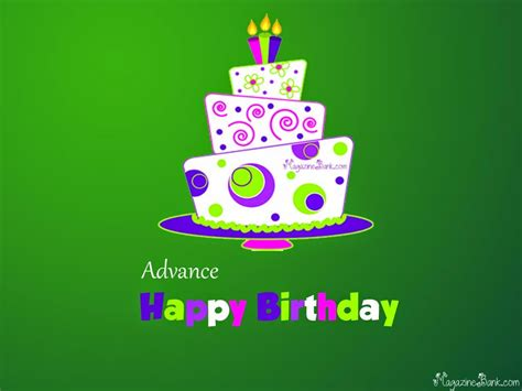 Advance Birthday Cards Birthday Wishes In Advance Page 12