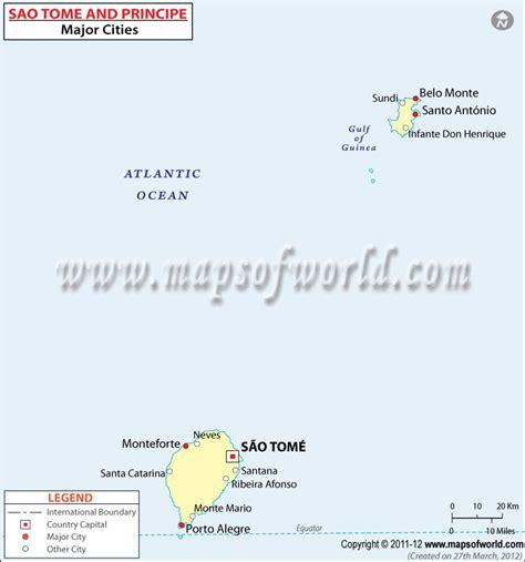 sao tome  principe cities map major cities  sao tome