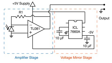 photodiode light detector circuit detecting light simple photodiode lifier bill connelly