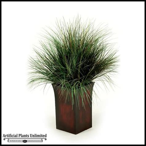 Grass Planter by 42in Burgundy Green Grass In Square Metal Planter