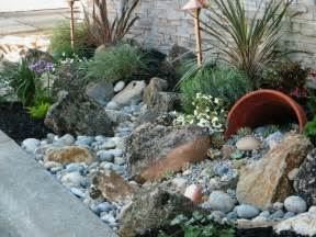 Rock Garden Ideas For Small Yards 25 Best Ideas About River Rock Gardens On Backyard Garden Landscape Gardening And