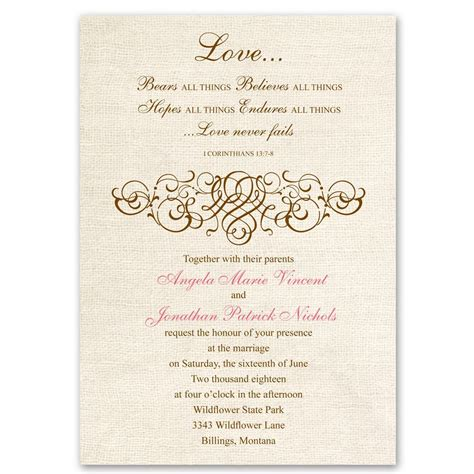 christian wedding invitations rustic invitation s bridal bargains