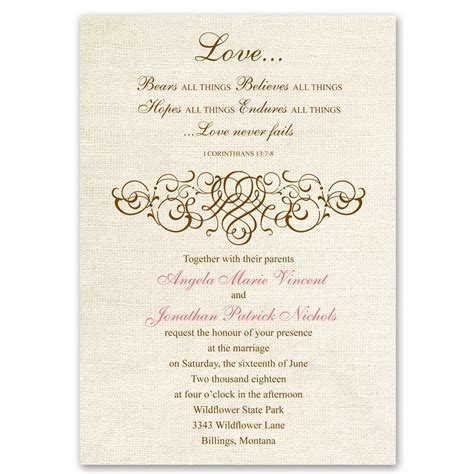 Rustic Love Invitation   Ann's Bridal Bargains
