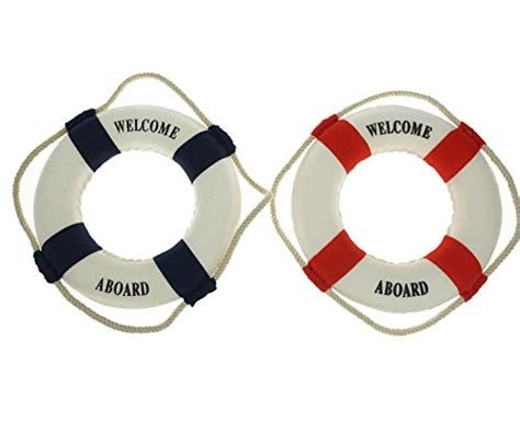 bilipala 2pcs welcome cloth decorative life ring buoy