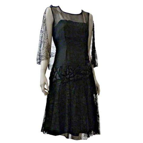1920s evening dresses 1920s silk chiffon and lace cocktail dress w quilted