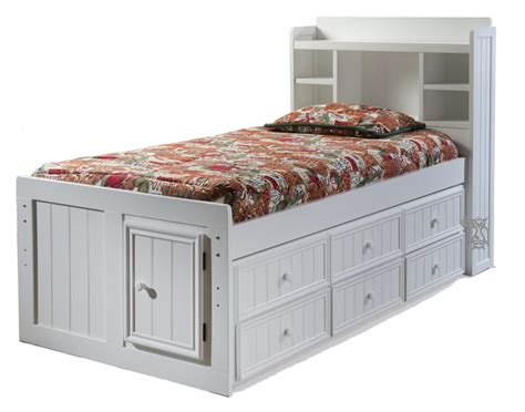 twin bed with trundle and storage hoot judkins beds birch beadboard twin trundle storage chest bed