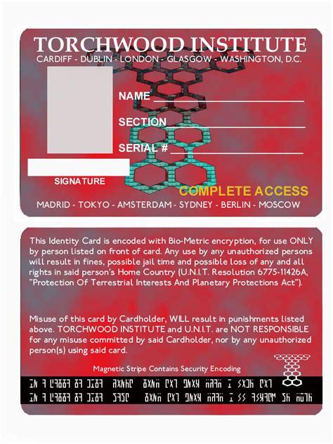 Fan Club Membership Card Template by Torchwood Id Card Torchwood Fan 1011343 Fanpop