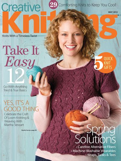 knitting magazine yeah for may creative knitting