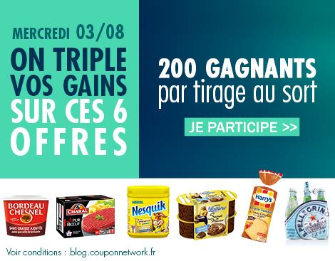 on vos gains sur coupon network coupon network