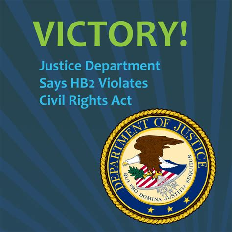 u s department of justice civil rights division disability rights section victory u s department of justice says hb2 violates