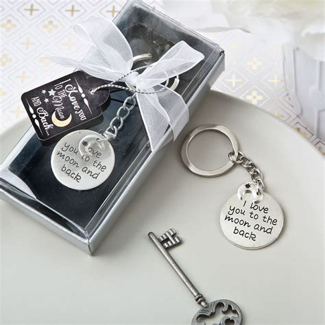 Wedding Favors Keychains by To The Moon And Back Keychain Favors