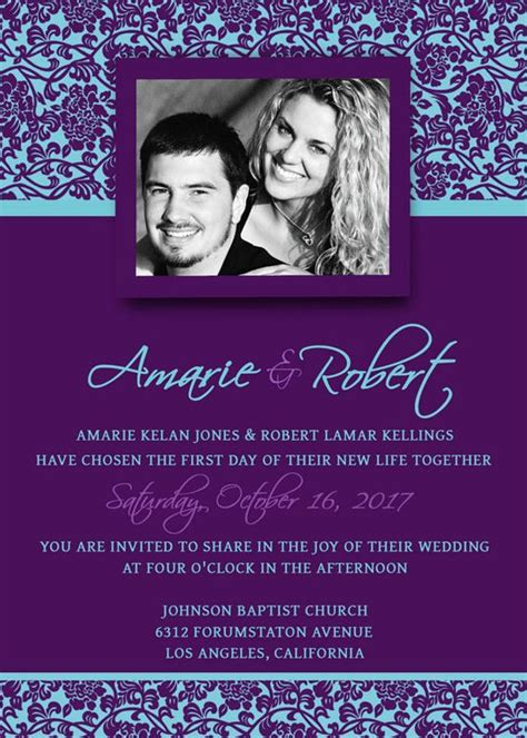printable wedding invitation template psd photoshop