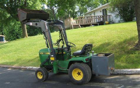 Garden Tractor With Loader by Deere Garden Tractors Compact Tractors Vintage