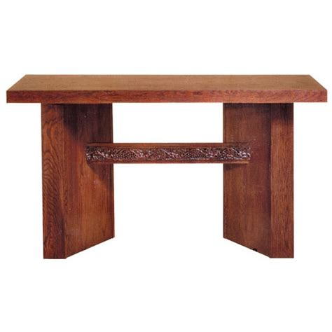 church supplies oak altar table