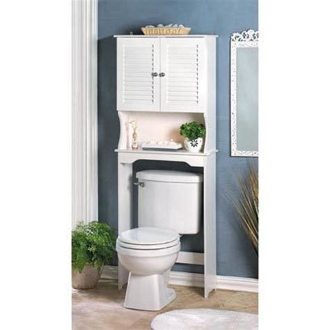 White Shutter Over Toilet Towel Shabby Bathroom Bath Bathroom Storage Organizer