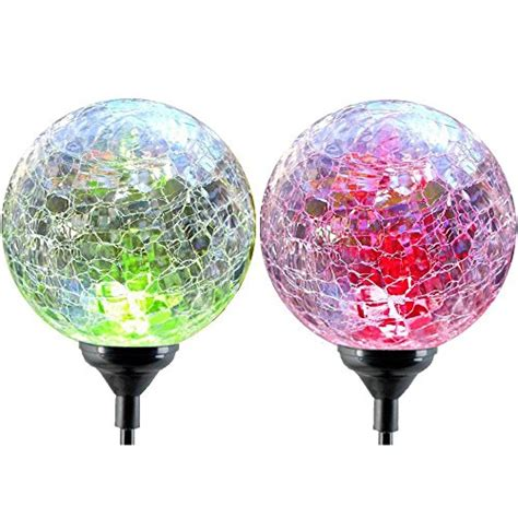 color changing solar lights globe oxyled sl75 glass globe color changing led solar