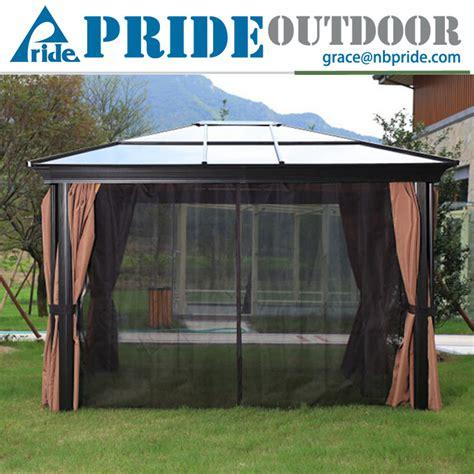 pavillon plastik vier ecken pavillon garten mit moskitonetze pvc kunststoff