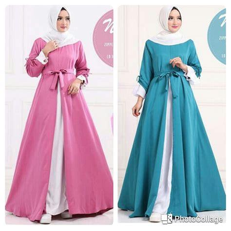 Busana Muslim Gamis Elsa Pink jual beli baju muslim lucia dress gamis gaun busui