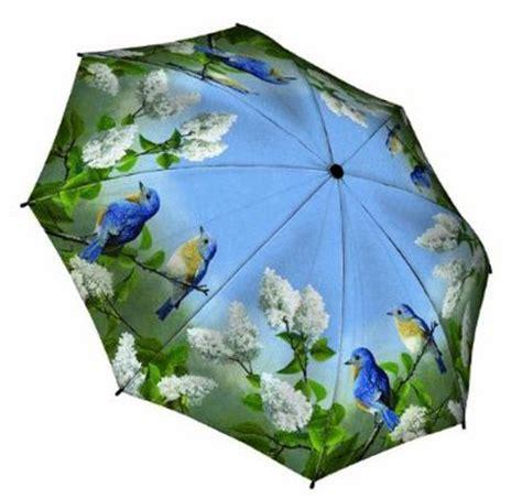 Forest Bird Design Folding Umbrella umbrellas stores quot hautman brothers blue birds quot galleria compact folding umbrella