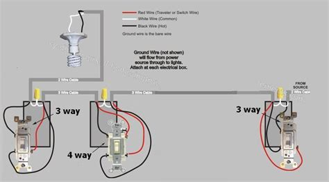 4 way switching wiring diagram for electrical switching