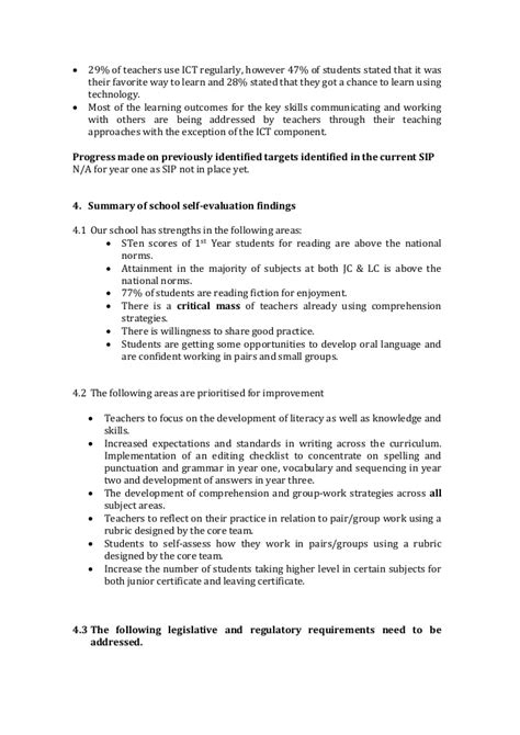 self evaluation report sle handout 3 sse study school self evaluation report
