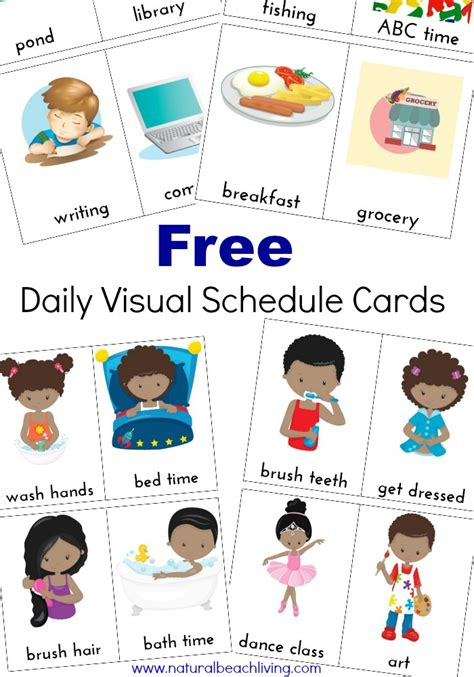 free printable daily visual schedule daily visual schedule for kids free printable natural