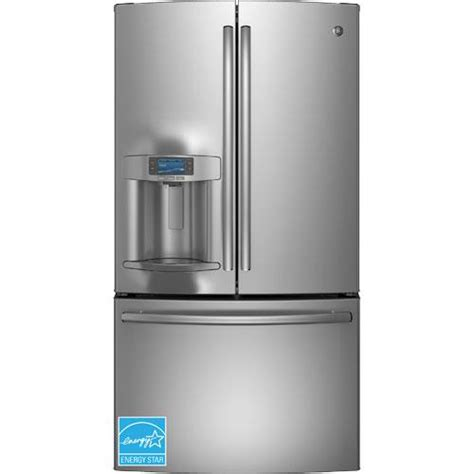 ge stainless steel door refrigerator ge pye22pshss 22 1 cuft profile series stainless steel 3
