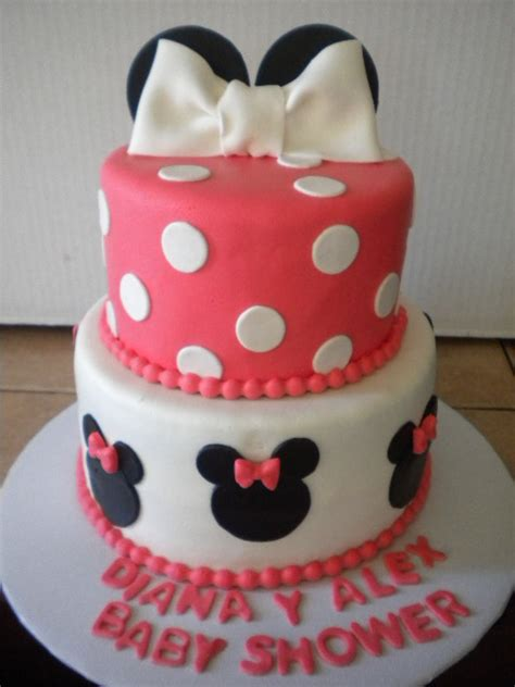 Minnie Mouse Baby Shower by Minnie Mouse Baby Shower Cake Cakecentral