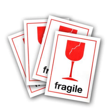 Packing Plastik Stiker Fragile fragile stickers 4 units