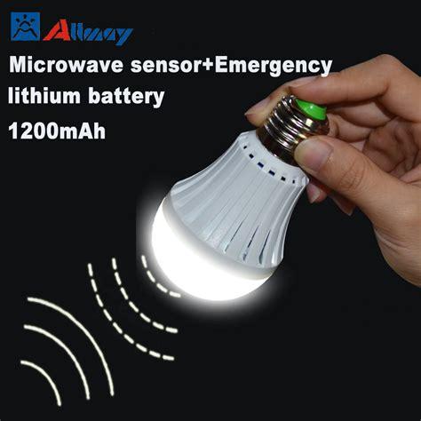 microwave light bulb led doppler radar microwave sensor 7w led bulbs e27 b22 5 8g