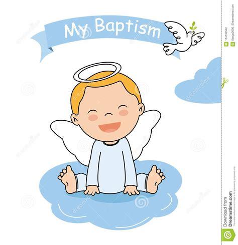 clipart battesimo carta dell invito di battesimo illustrazione vettoriale