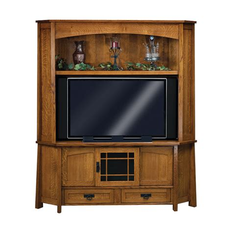 Corner Television Armoire by Modesto Corner Tv Cabinet Amish Entertainment Centers