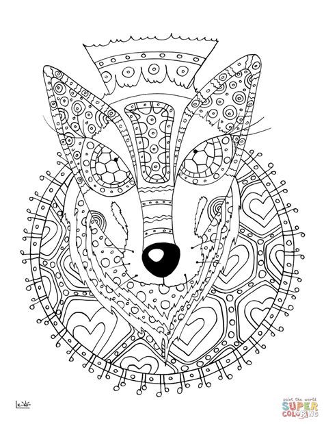 93 Zentangle Coloring Pages Free Make An Animal