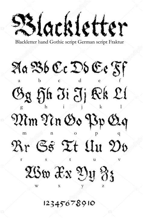 lettere gotiche da stare gotycka czcionka rysowane rä cznie â grafika wektorowa