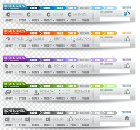 web design menu layout free creative website menu designs vector 02 titanui