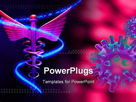 template free ppt virus digital illustration of a medical logo and herpes simplex