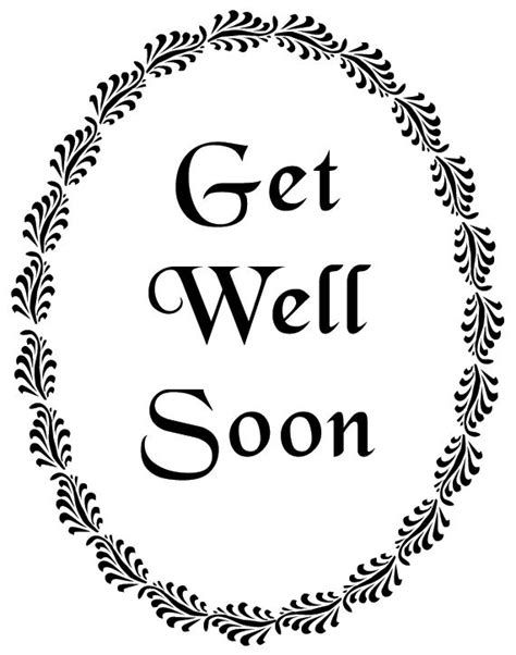 get well soon card template black and white get well soon black and white clipart clipart suggest
