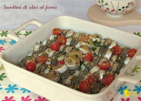 cucinare le alici al forno involtini di alici al forno ricetta antipasti di pesce