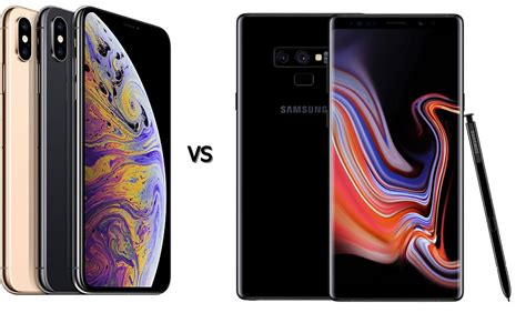 iphone xs max vs galaxy note 9 specs showdown techbeasts