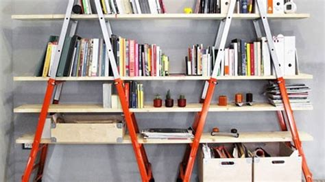 make bookshelves from ladders lifehacker australia