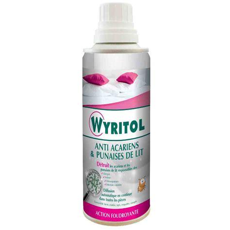 traitement choc antiacariens punaises de lit wyritol