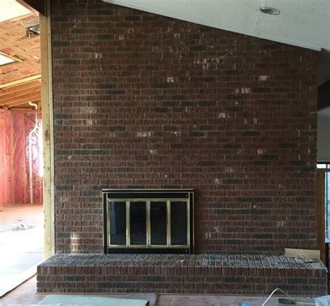 need suggestions for updating brick wall with fireplace