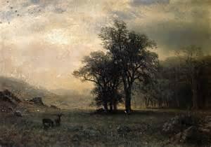 deer landscape albert bierstadt deer in a landscape painting best