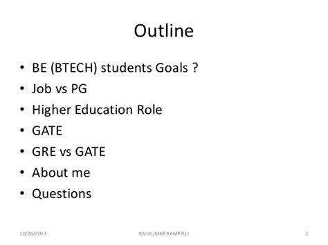 Gate Vs Mba by Higher Education Importance