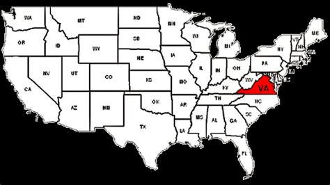 map of usa states virginia virginia in the united states investigations