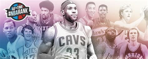 best all time all time nbarank the greatest players