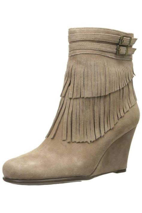 aerosoles wedge fringe boots from alabama by jojo shoptiques