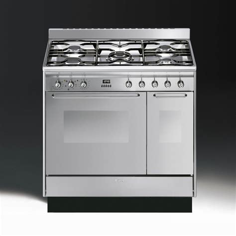 smeg appliances smeg cucina cc92mx9 dual fuel 90cm range cooker